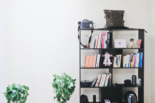 Shelves are great for storing items you use every day.