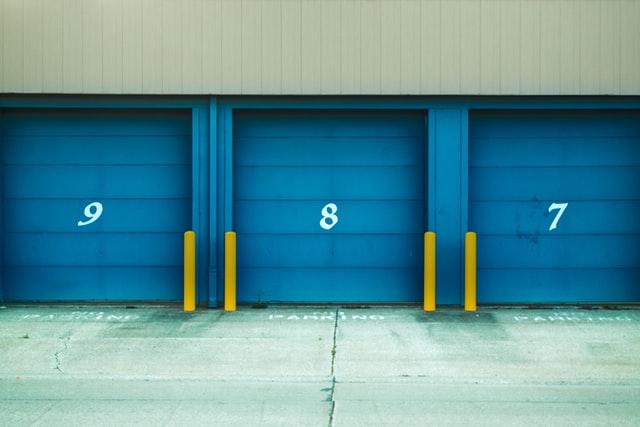 Storage units entrances